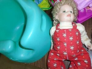 10 Inch Girl Doll with Long Blonde Hair
