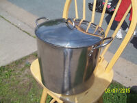 Large Metal Stockpot with Lid