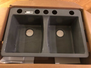 Brand New Kohler Deersfield Double Equal Cast Iron Sink