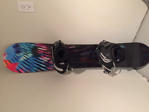women's snowboards and boots