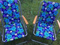 QUICK SALE: Pair of retro / vintage deckchairs