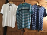 3 designer polo shirts. New lower price.,