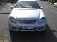 57 PLATE MERCEDES BENZ C200 COUPE 2.1TD AUTOMATIC SE