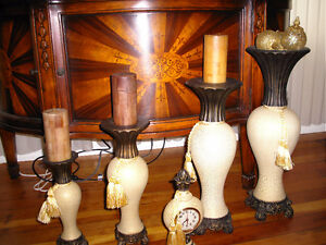 BEAUTIFUL VASE AND CANDLE HOLDERS