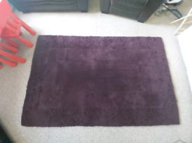 Large Purple Wool Rug