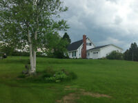 home in the country with 6-12 acres