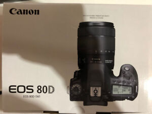 Canon EOS 80D DSLR Camera AND EF-S 18-55mm f/3.5-5.6 LENS