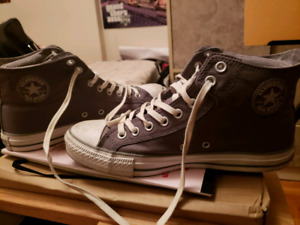 ab8561afbb02 Converse classic size 9 Grey white. Worn once