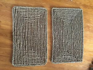 2 brown grass mats Kitchener / Waterloo Kitchener Area image 1