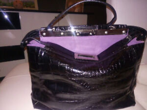New from Italy Leather bag des. By Fendi Pikaboo