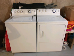 G.E.  Large capacity washer and dryer