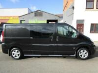 NO VAT Vauxhall Vivaro LWB 2.0CDTi Sportive LWB 5 seat factory fitted crew cab 2