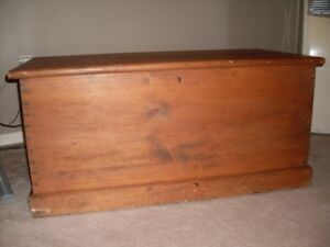Canadiana Hand-Made Cedar Lined Pine Chest