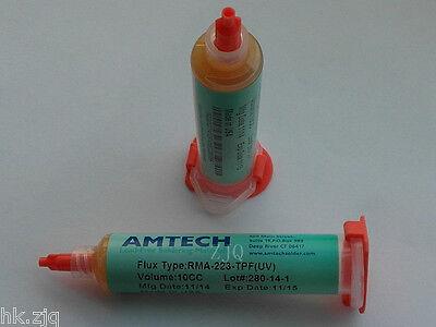 Amtech Soldering Flux Paste Rma-223-tpfuv 10cc Usa Free Needle