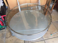 Ikea STRIND Heavy Glass and Steel Round Table £5 (new £100 in Ikea)