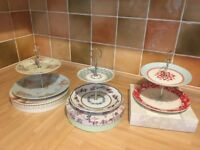 Three 2 Tier Cake Stands
