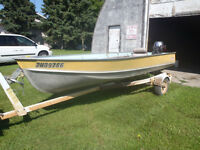 14 ft Lund 15 hp yamaha electric start