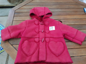 girls padded coat age 6-9 months