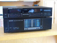 Kenwood Stereo Amplifier KM 205/Kenwood Graphic Equalizer GE76