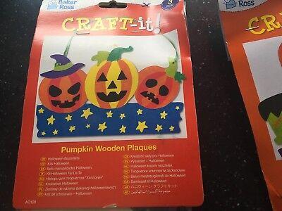 Halloween Pumpkin Art And Craft (baker ross art and craft halloween wooden pumpkin plaques 27)