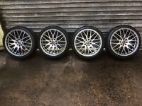 """17"""" multistud alloy wheels & tyres wolfrace 4x100/4x108 pcd Clio corsa mini polo Astra 206 Saxo"""