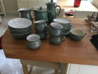 Green Denby tea set