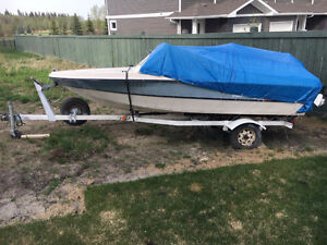 Selling boat with 70 Johnson and trailer. 1000 OBO