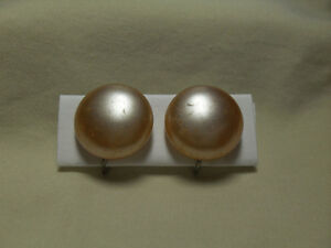 9. Vintage Earrings -  Pearl with screw back earrings