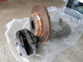 BMW 3 F30 335d brake calipers, brake shields, discs and pads