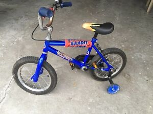 """12"""" boys bike with training wheels  $25 only"""