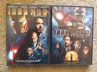 Iron Man 1 & 2 Dvds