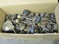 BOXFULL OF OLD PRE 1920 FURNITURE WHEELS $2 EA. ARTS & CRAFTS