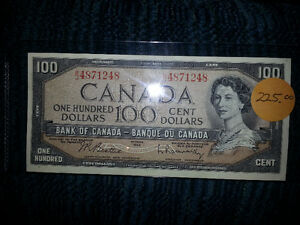 LOOKING TO PURCHASE OLD PAPER MONEY FROM B4 1989................ London Ontario image 1