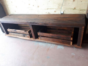 Entry bench solid century wood