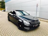2013 63 reg Mercedes-Benz C220 CDI AMG Sport Coupe Black + PAN ROOF + ALL BLACK