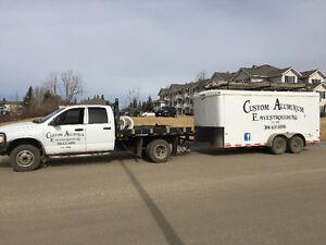 Custom Aluminum  Eavestroughing, GOT HAIL? Call custom ! Moose Jaw Regina Area image 4