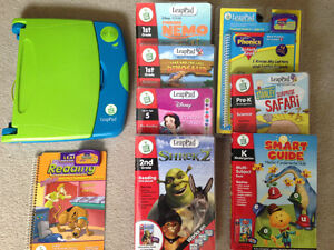 LeapPad Learning system & 8 books with their cartridges