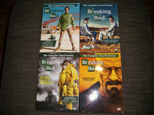 Breaking Bad Seasons 1-4 on DVD