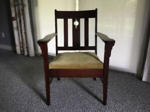 Vintage Mission Oak Arts & Crafts Armchair $100