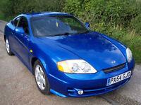 2004 54 Plate Metallic Blue Hyundai Coupe 1.6 S , Cheap p/ex , Long Mot