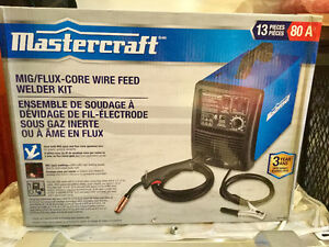NEW Mastercraft MIG/FLUX CORE WIRE FEED WELDER KIT