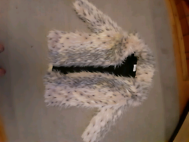 Size 12 fake fur snow leopard coat