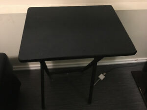Black Wood Folding Table