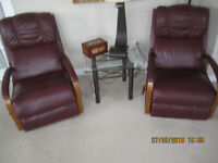 2 Lazyboy Glideaway Recliners sold as a set