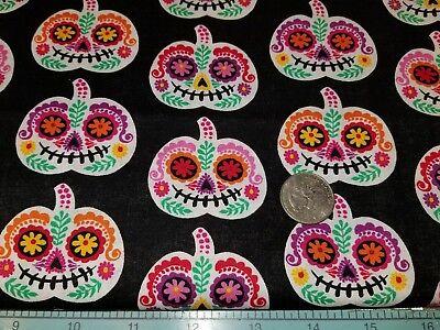 DOG BANDANA Over Collar XS-L PUMPKIN SUGAR SKULLS  Halloween Bright CLOSEOUT!!! - Halloween Closeout