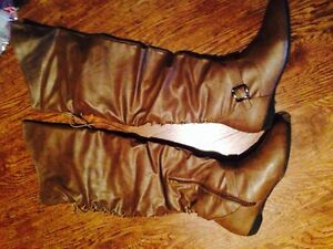 Tan over the knee boots worn once