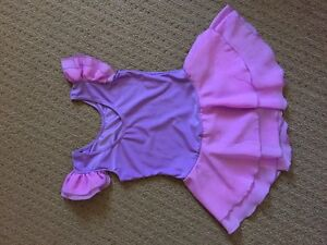 Leotard / dance class tutu dress and shoes sizes 4 and 6,6x