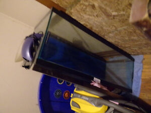 fish tank n wooden stand
