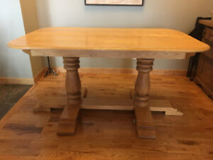 Solid Sturdy Oak Table/Workbench/Ski wax table