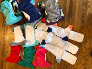 Cloth diapers - Bum Genius and manga care pail liners